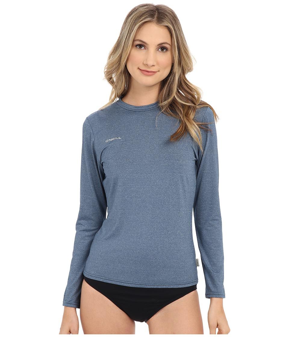 O'Neill - 24-7 Hybrid Long Sleeve Tee (Deep Teal) Women's Swimwear