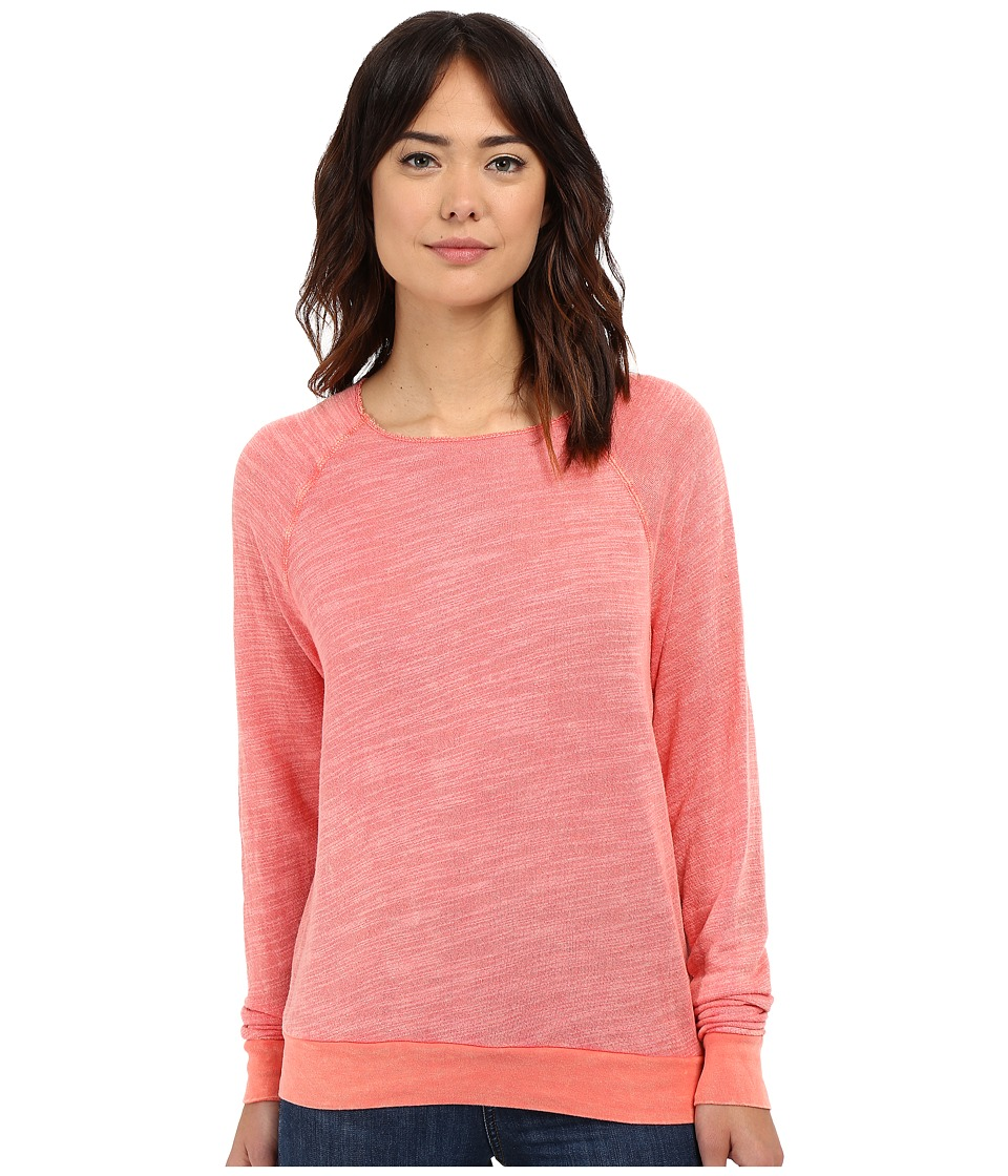 Project Social T - Bonfire Crew Neck (Mineral Wash Hot Papaya) Women's Sweatshirt