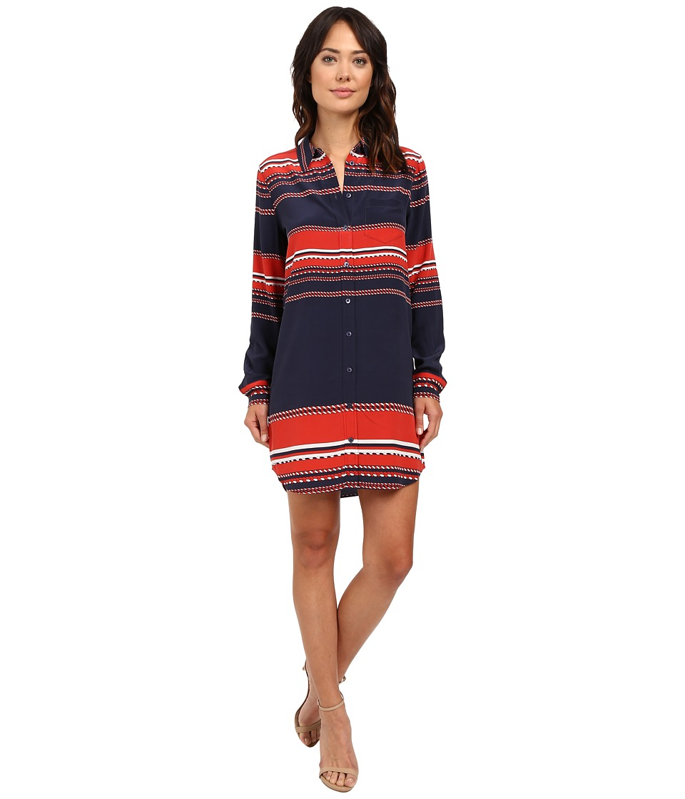 EQUIPMENT - Brett Dress (Peacoat Multi) Women's Dress