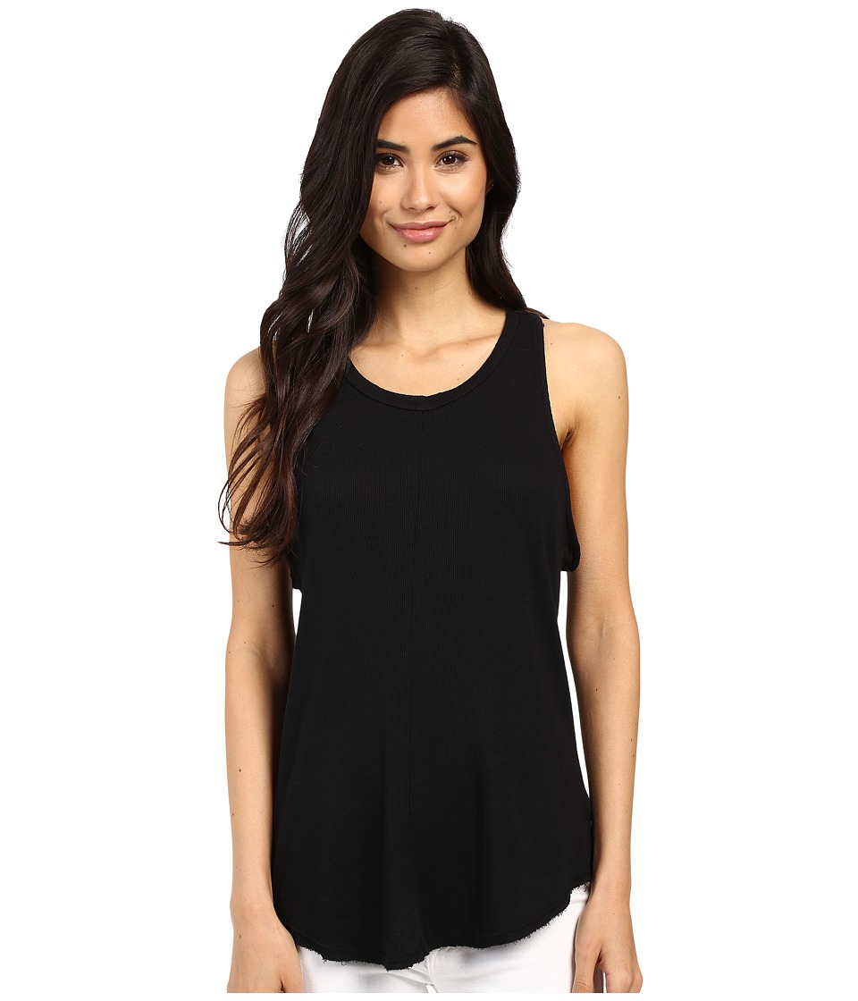 Project Social T - Hannah Rib Tank Top (Black) Women's Sleeveless