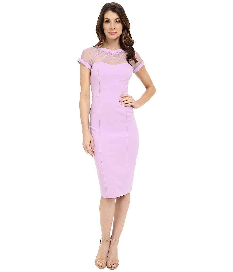 Maggy London - Illusion Top Crepe Dress (Orchid) Women's Dress