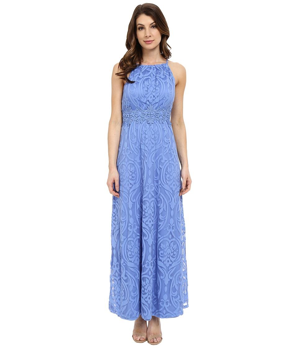 Maggy London - Bavarian Burnout Scroll Maxi (Periwinkle) Women's Dress