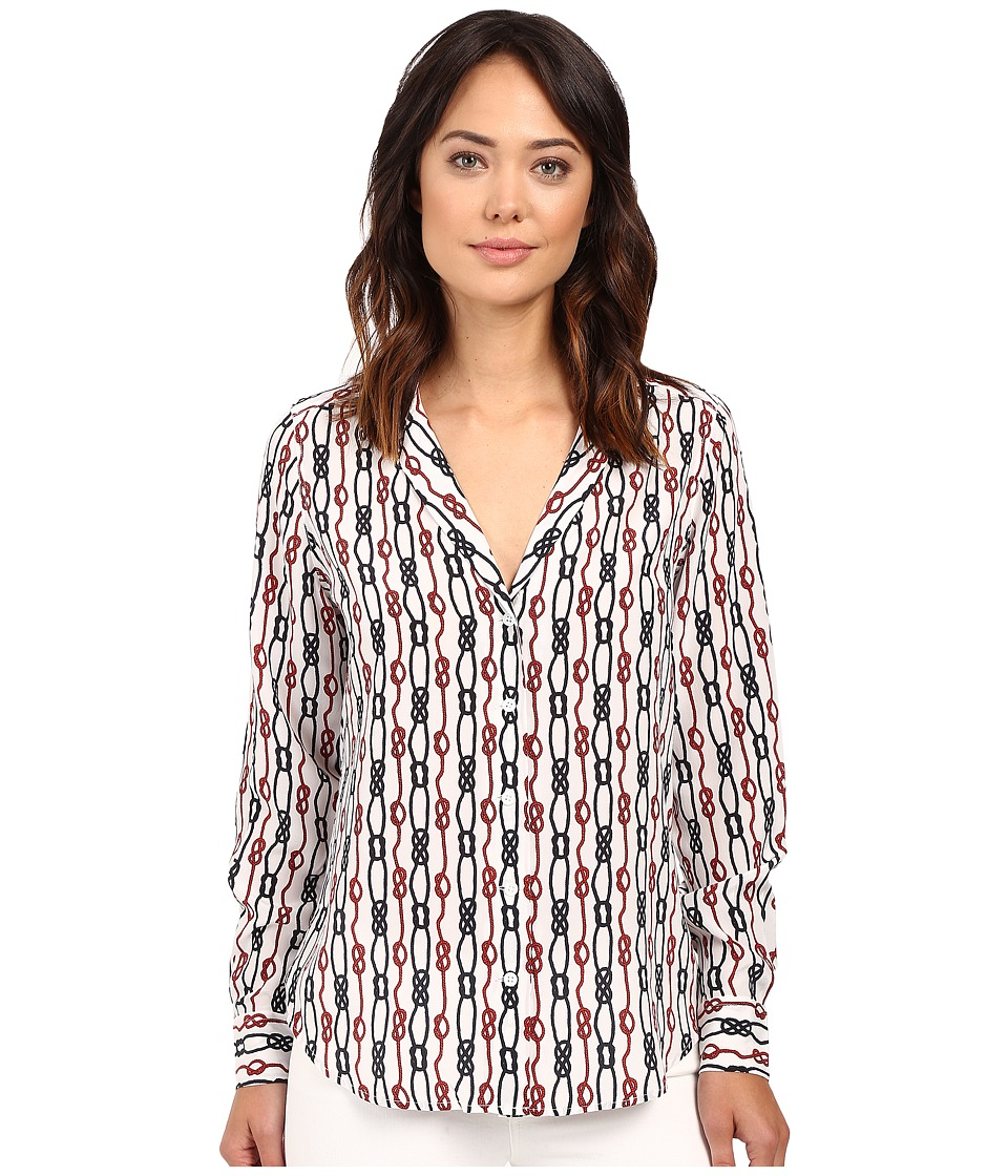 EQUIPMENT - Adalyn Blouse (Bright White Multi) Women's Blouse