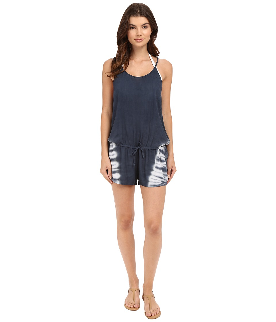 Lucky Brand - Hazy Day Romper Cover-Up (Moonless Night) Women's Jumpsuit & Rompers One Piece
