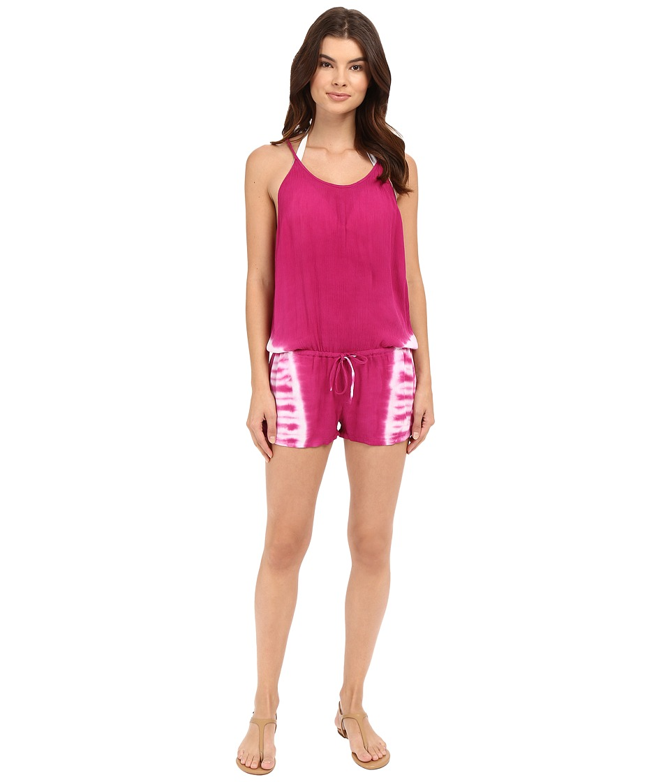 Lucky Brand - Hazy Day Romper Cover-Up (Pink Glow) Women's Jumpsuit & Rompers One Piece