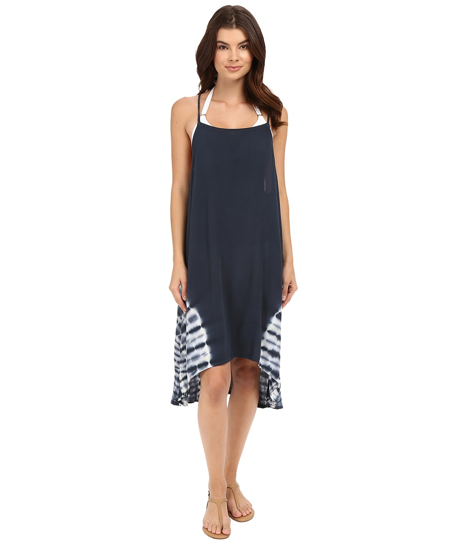 Lucky Brand - Hazy Day Dress Cover-Up (Moonless Night) Women's Swimwear