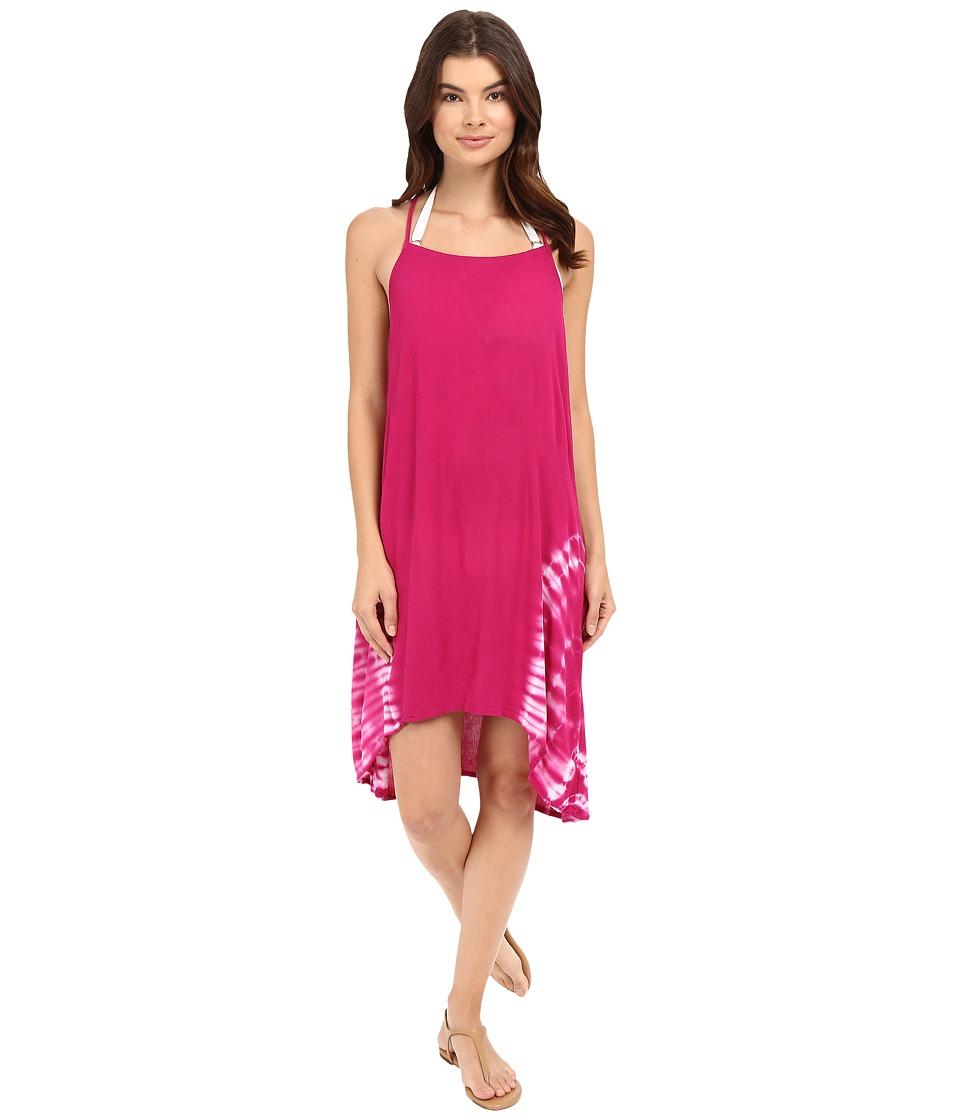 Lucky Brand - Hazy Day Dress Cover-Up (Pink Glow) Women's Swimwear