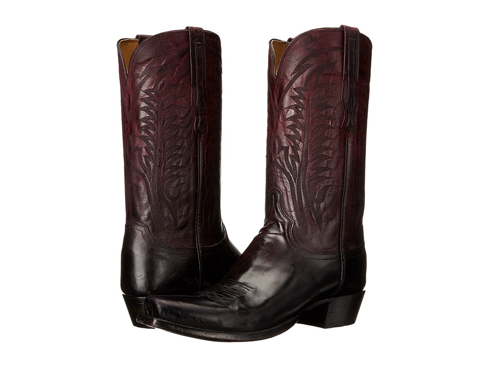 Lucchese - Montgomery (Oxblood) Cowboy Boots