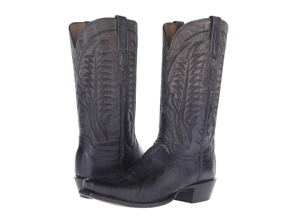 Lucchese Montgomery (Anthracite Grey) Cowboy Boots