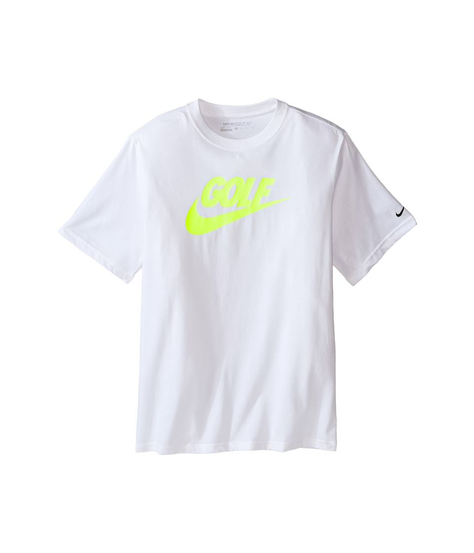 Nike Kids - Golf Graphic Tee (Little Kids/Big Kids) (White/Black) Boy's Short Sleeve Pullover