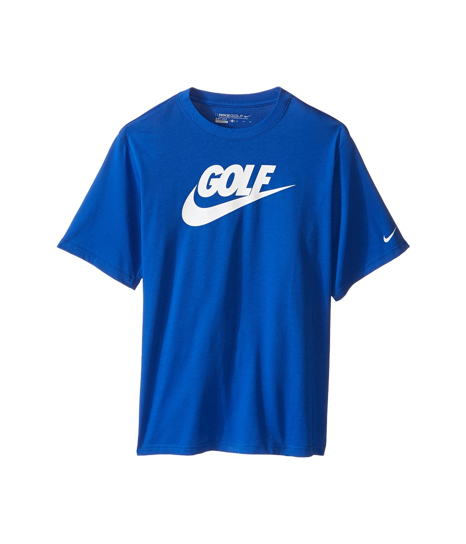 Nike Kids - Golf Graphic Tee (Little Kids/Big Kids) (Game Royal/Black) Boy's Short Sleeve Pullover