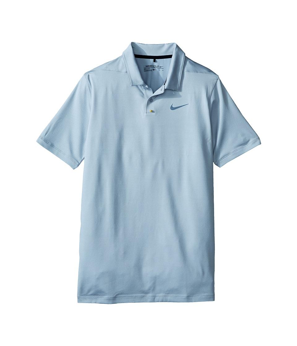 Nike Kids - TW Control Stripe Polo (Little Kids/Big Kids) (Wolf Grey/Dark Grey/Reflective Black) Boy's Short Sleeve Pullover