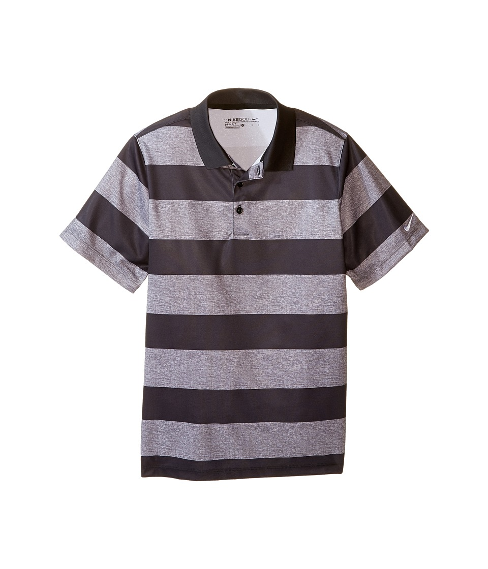 Nike Kids - Bold Stripe Polo (Little Kids/Big Kids) (Black/Dark Grey/White) Boy's Short Sleeve Pullover