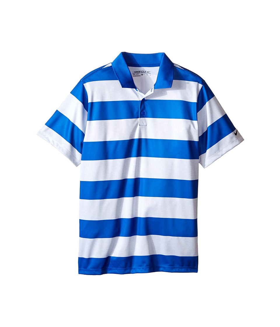 Nike Kids - Bold Stripe Polo (Little Kids/Big Kids) (Game Royal/White/Black) Boy's Short Sleeve Pullover