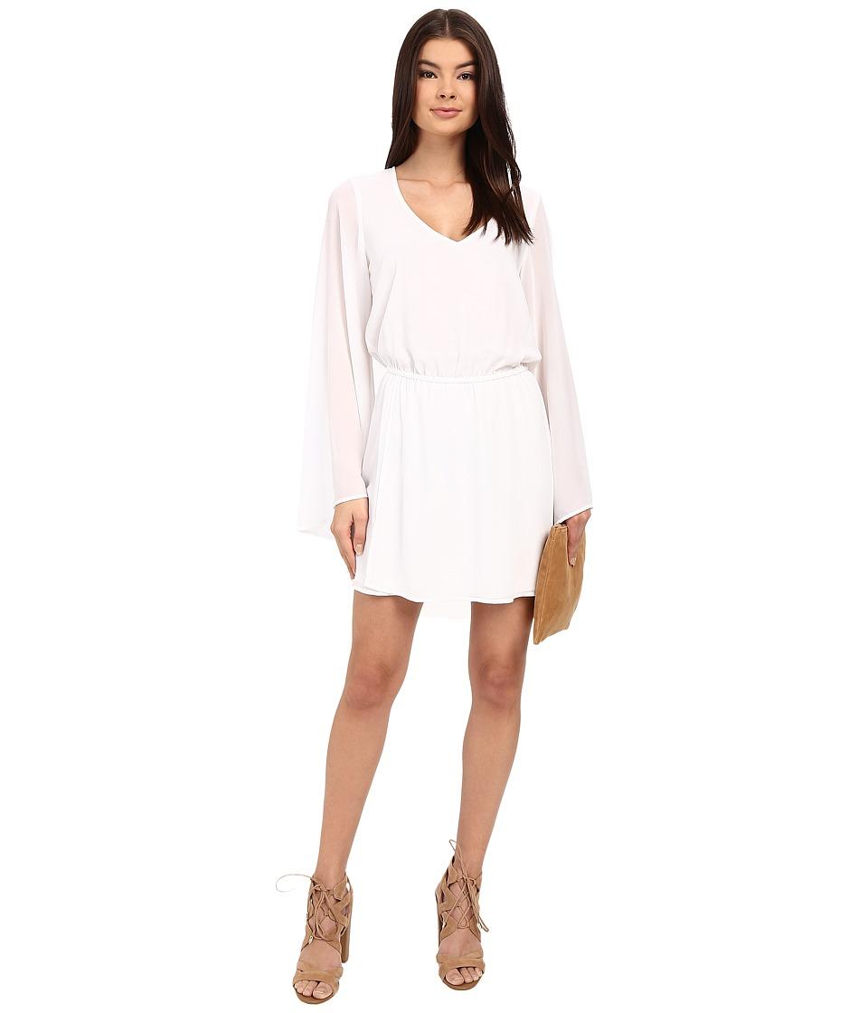 Show Me Your Mumu - Runaway Mini Dress (White Chiffon) Women's Dress