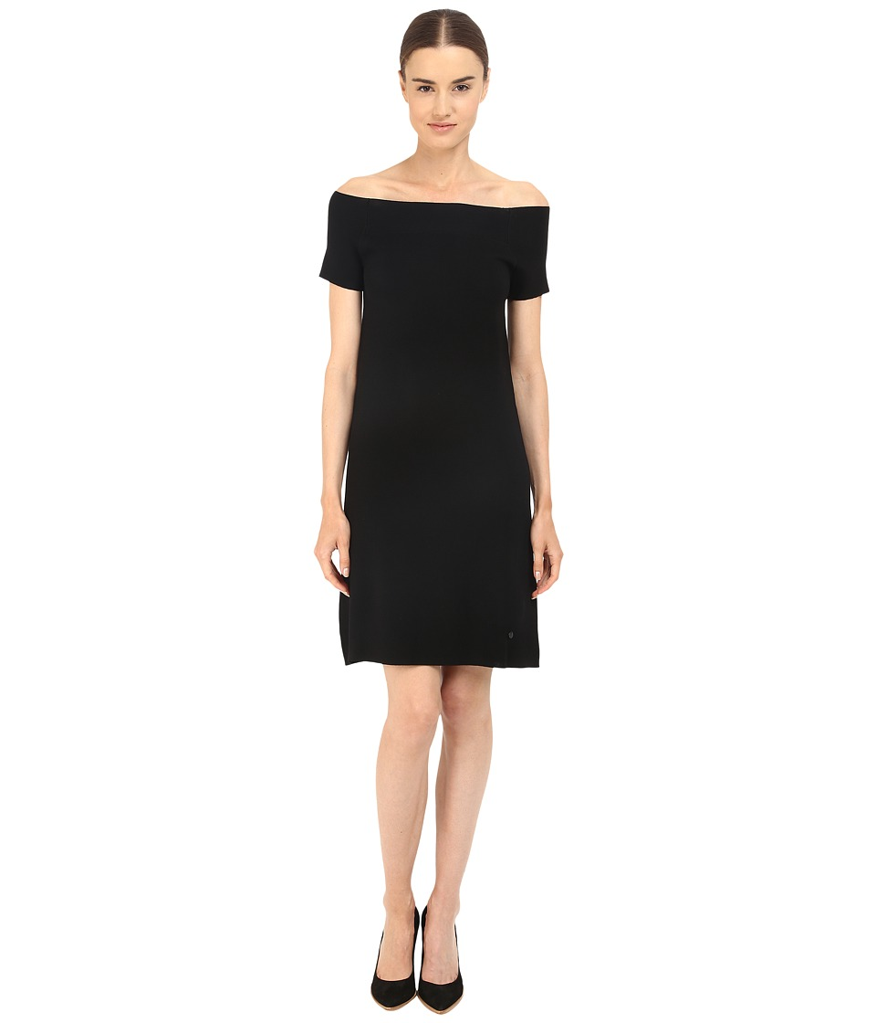 Armani Jeans - Knit Off the Shoulder Dress (Black) Women's Dress