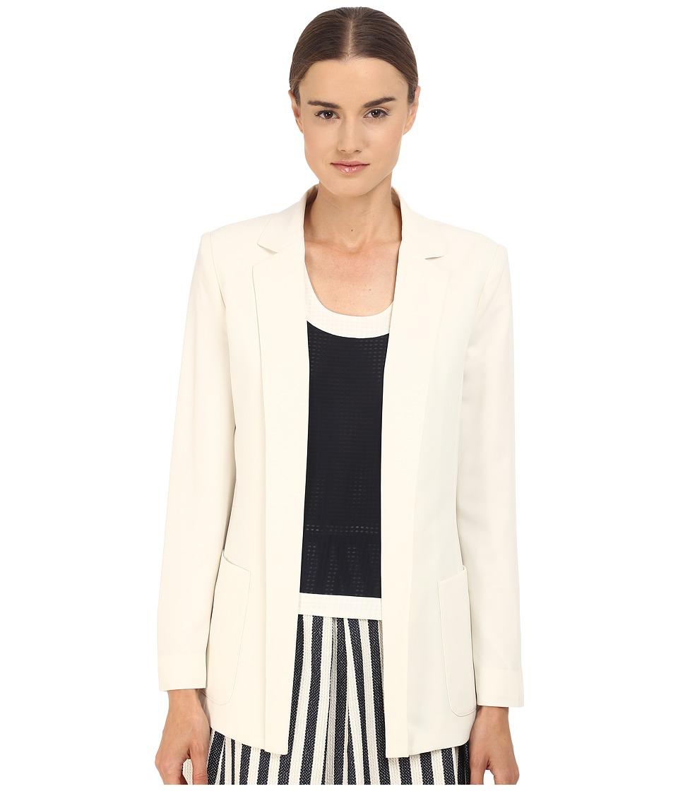 Armani Jeans - Poly Crepe Blazer (White) Women's Jacket