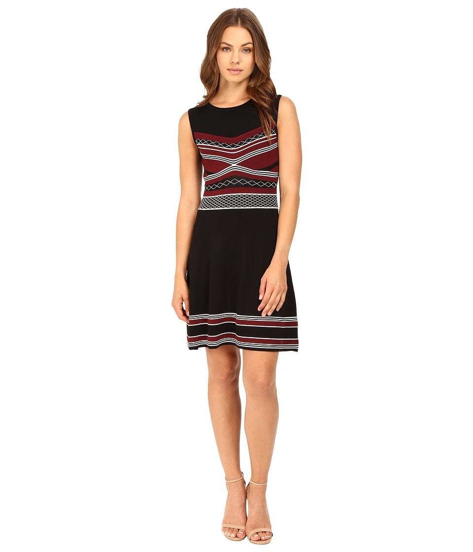 Shoshanna Ava Dress (Jet/Port) Women