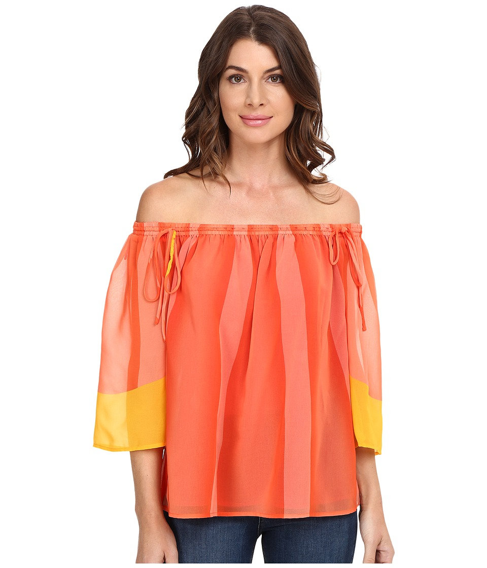 Trina Turk - Yamille Top (Carnival Coral) Women's Clothing
