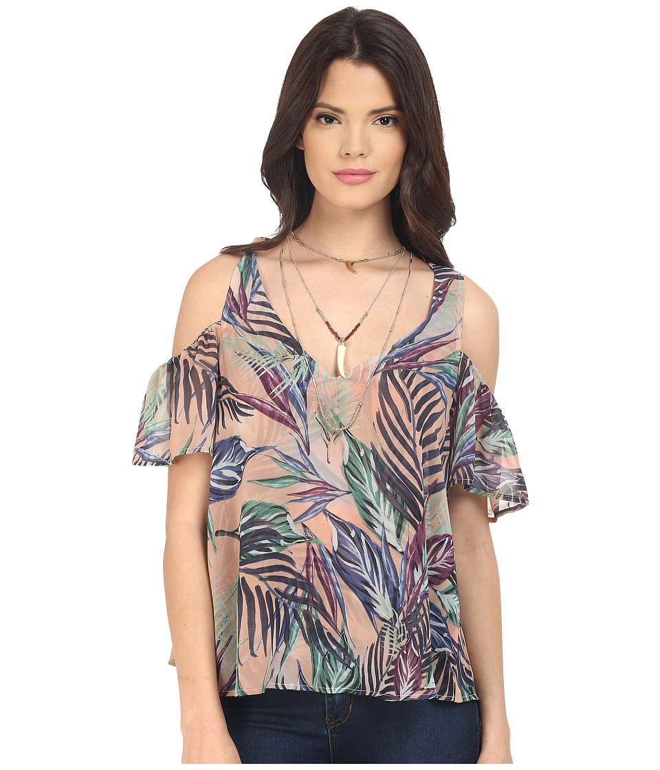 Show Me Your Mumu - Hazel Ruffle Top (Palm Funday) Women's Blouse