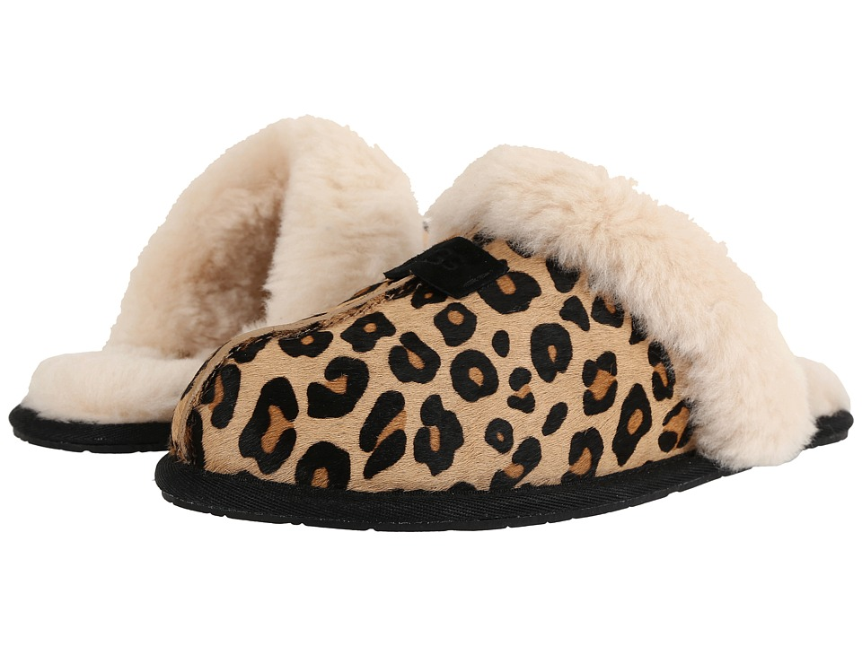 UGG - Scuffette Calf Hair Leopard (Chestnut Leopard) Women's Slippers