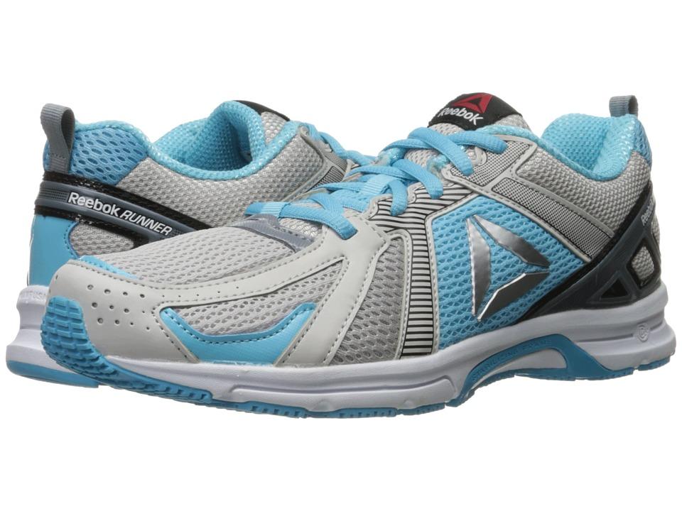 Reebok - Reebok Runner (White/Skull Grey/Asteroid Dust/Crisp Blue/Silver) Women's Shoes