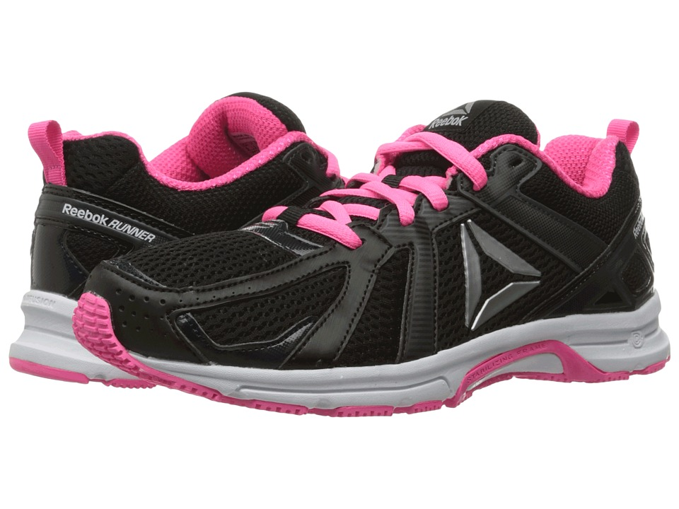 Reebok - Reebok Runner (Coal/Black/Poison Pink/White/Silver) Women's Shoes
