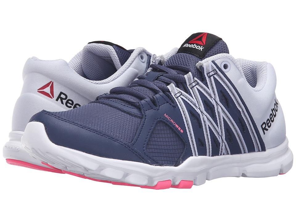 Reebok - YourFlex Trainette 8.0 L MT (Blue Ink/Lucid Lilac/White/Posion Pink) Women's Cross Training Shoes