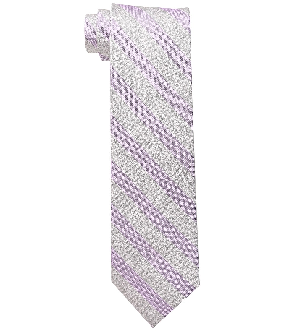 Calvin Klein - Sable Bar Stripe (Lilac) Ties