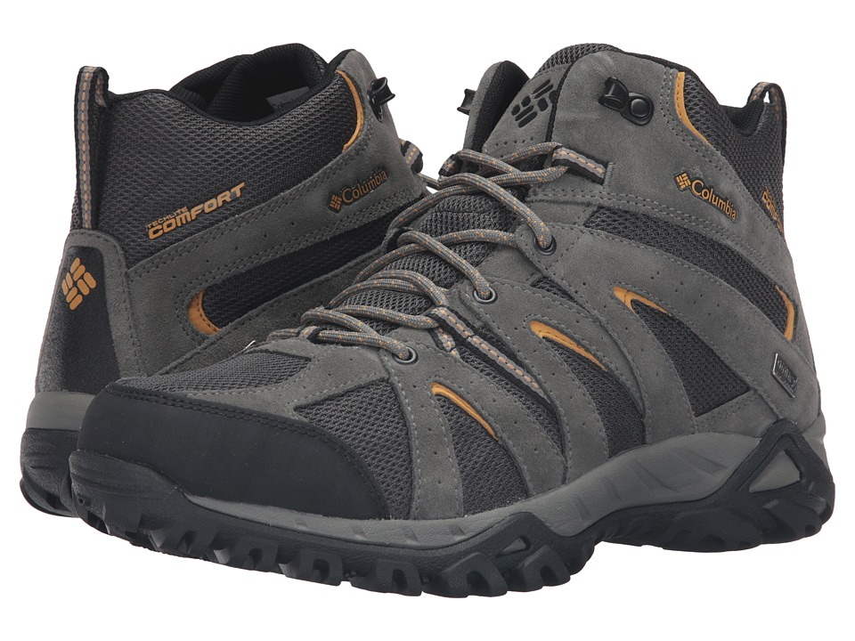 Columbia - Grand Canyon Mid Outdry (Shark/Dark Banana) Men's Shoes