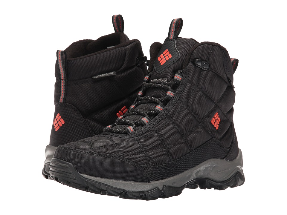Columbia - Firecamp Boot (Black/Bonfire) Men's Boots