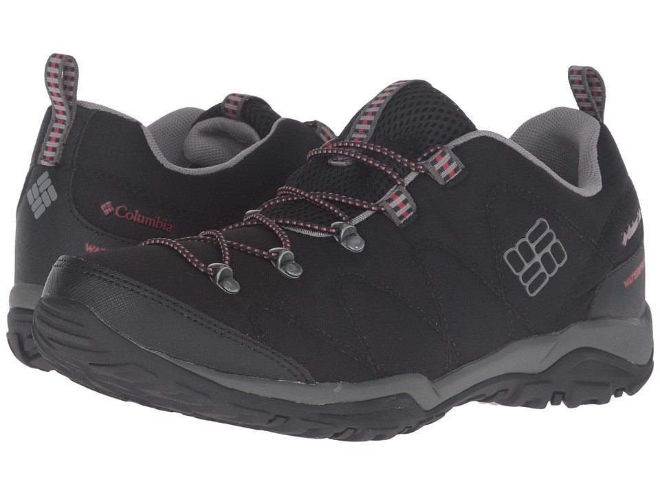 Columbia - Firecamp Sport Waterproof (Black/Sail Red) Men's Shoes