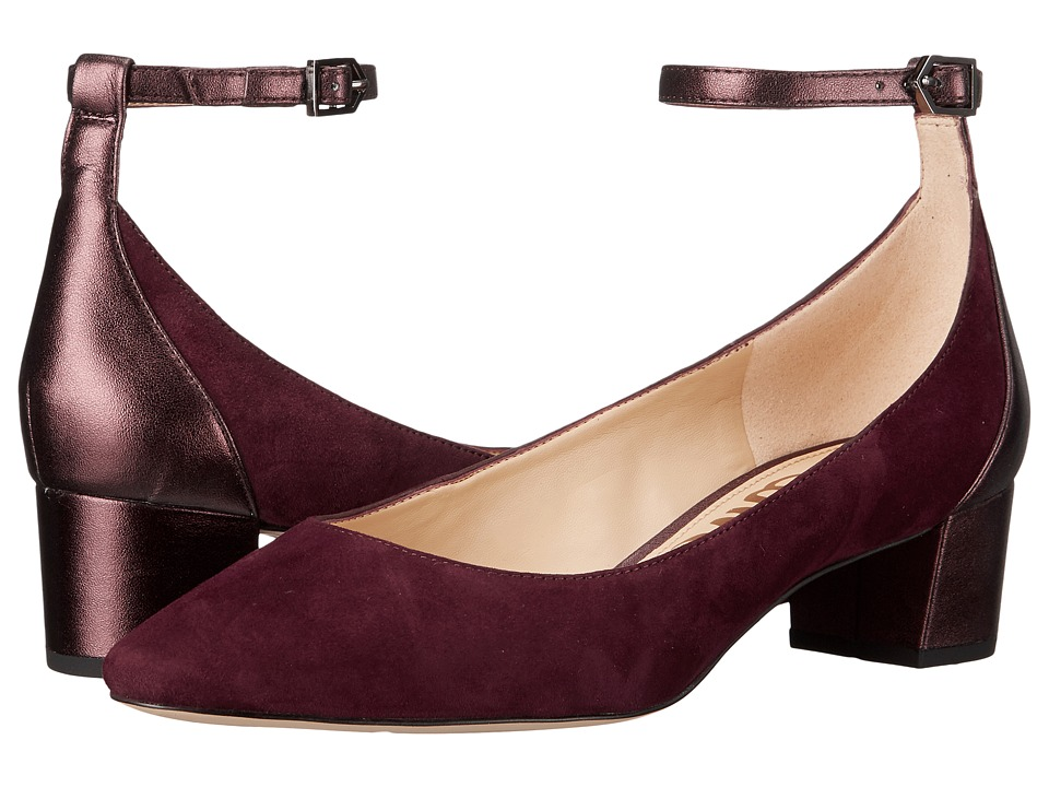 Sam Edelman - Lola (Port Wine Kid Suede Leather) Women's Shoes
