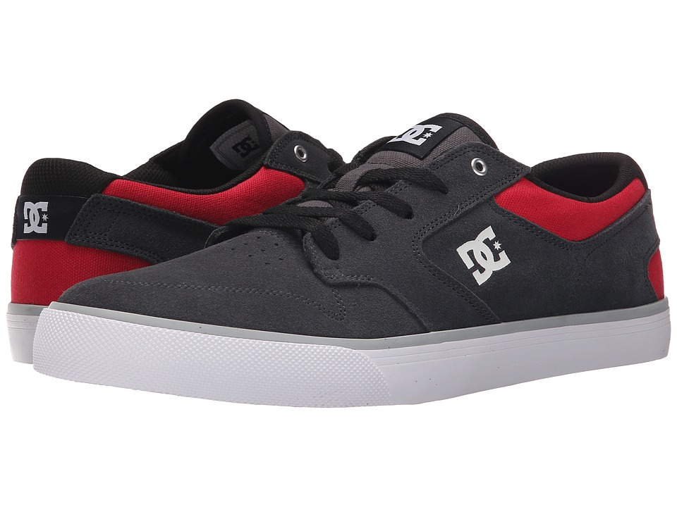 DC - Argosy Vulc (Grey/Red) Men's Lace up casual Shoes