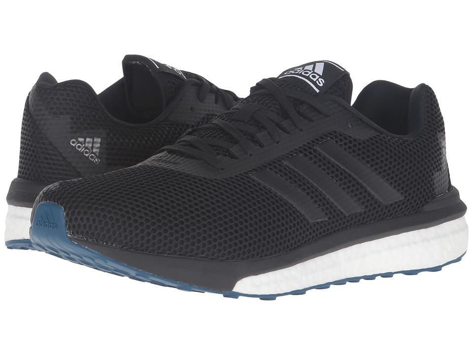 adidas Running - Vengeful (Black/Black/Solar Red) Men's Running Shoes