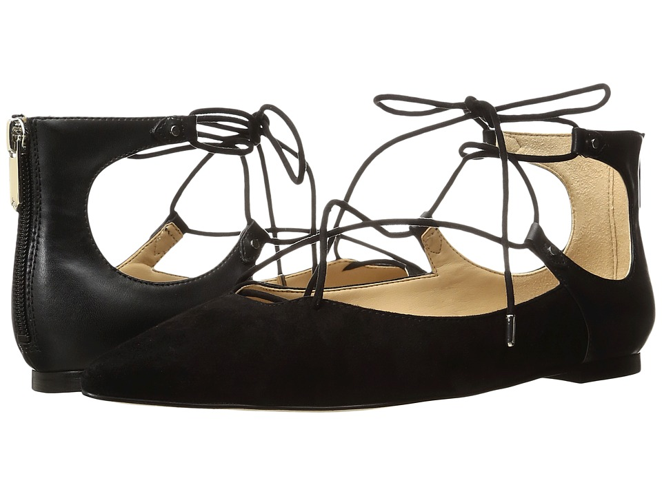 Sam Edelman - Rosie (Black Kid Suede Leather/Dress Calf Leather) Women's Shoes