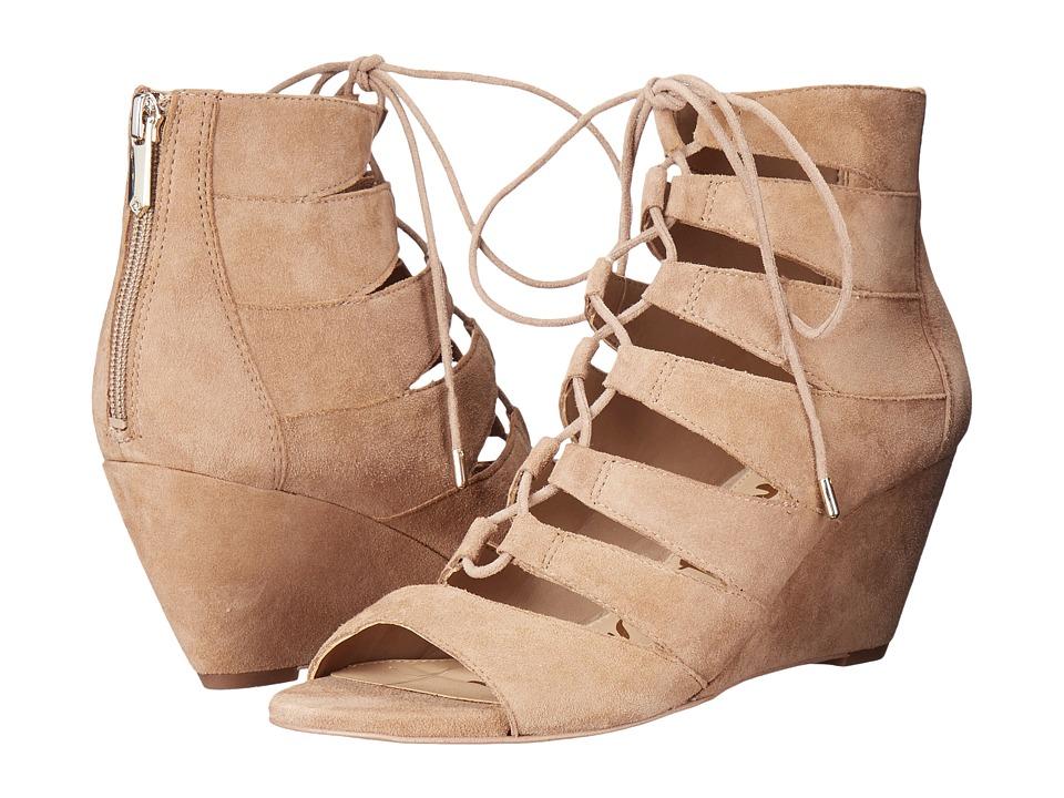 Sam Edelman Santina Oatmeal Kid Suede Leather Shoes