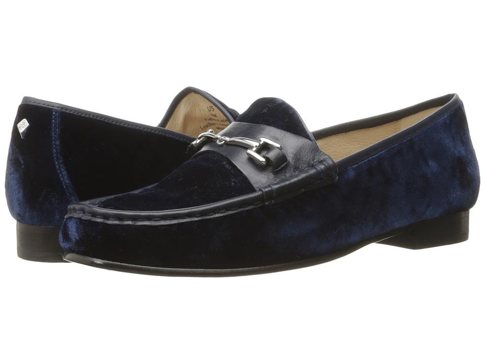 Sam Edelman - Talia (Inky Navy Silky Velvet/Dress Calf Leather) Women's Shoes
