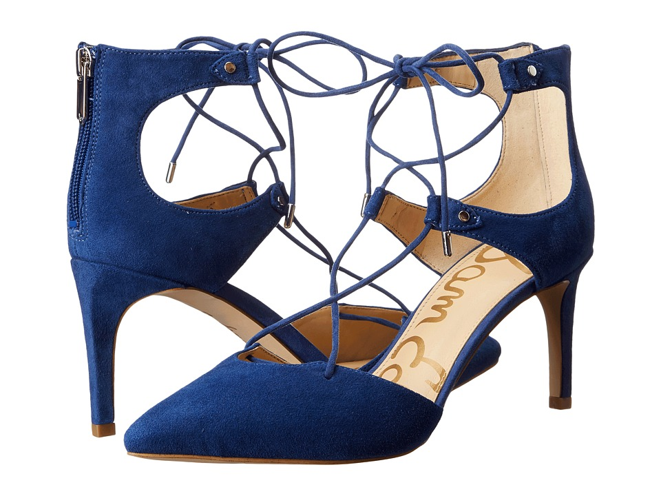 Sam Edelman - Taylor (Bandana Blue Kid Suede Leather) Women's Shoes