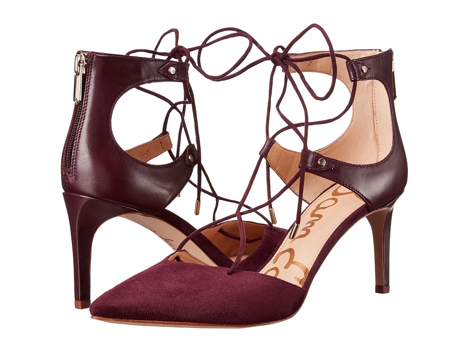 Sam Edelman - Taylor (Port Wine Dress Calf Leather/Kid Suede Leather) Women's Shoes