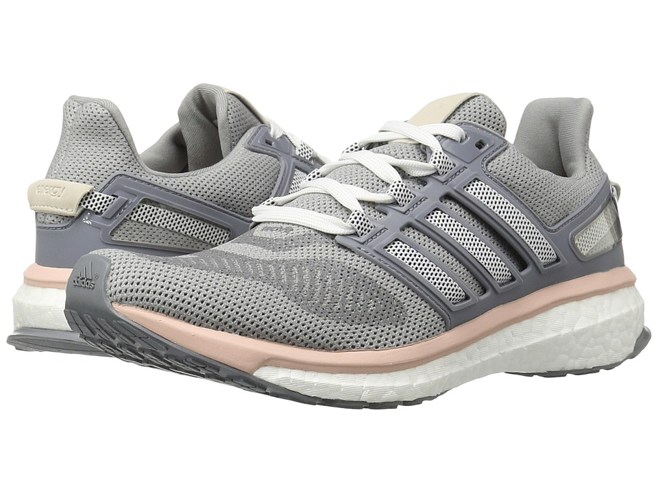 adidas - Engery Boost 3 (Light Grey Heather/Night Navy/Vapour Pink) Women's Running Shoes