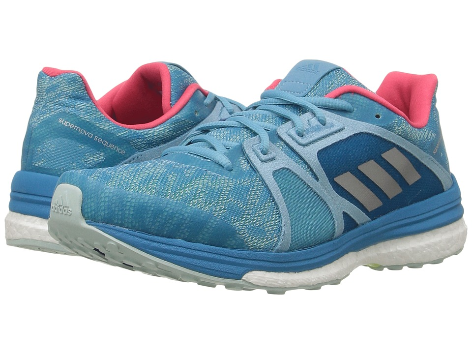 adidas Running - Supernova Sequence 9 (Vapour Blue/Matte Silver/Craft Blue) Women's Running Shoes