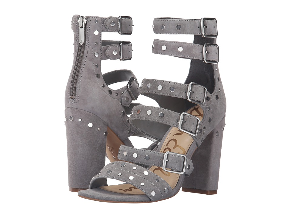 Sam Edelman - York (Grey Frost Kid Suede Leather) High Heels