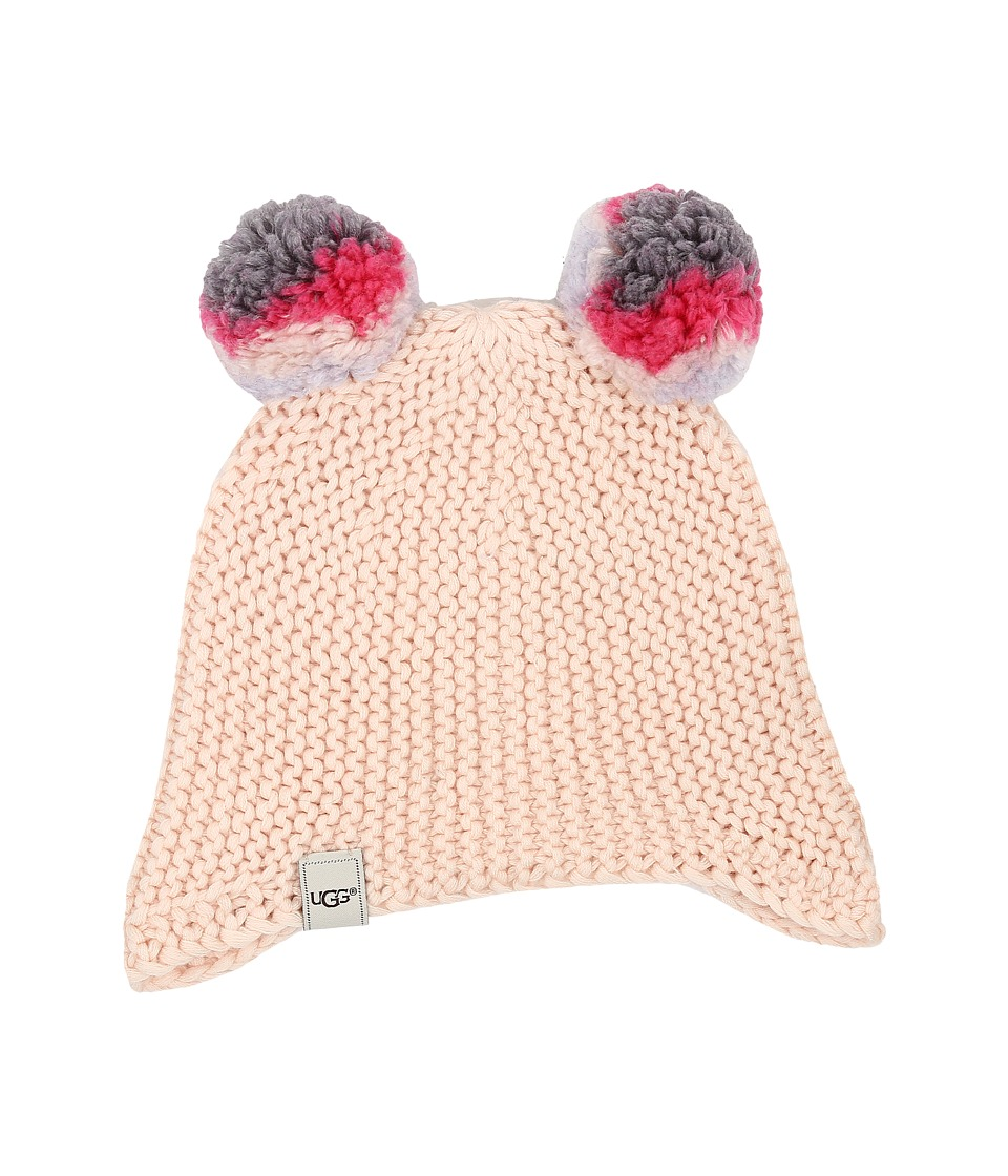 UGG Kids - Multicolor 2 Pom Knit Hat (Toddler/Little Kids) (Freshwater Pearl Multi) Cold Weather Hats