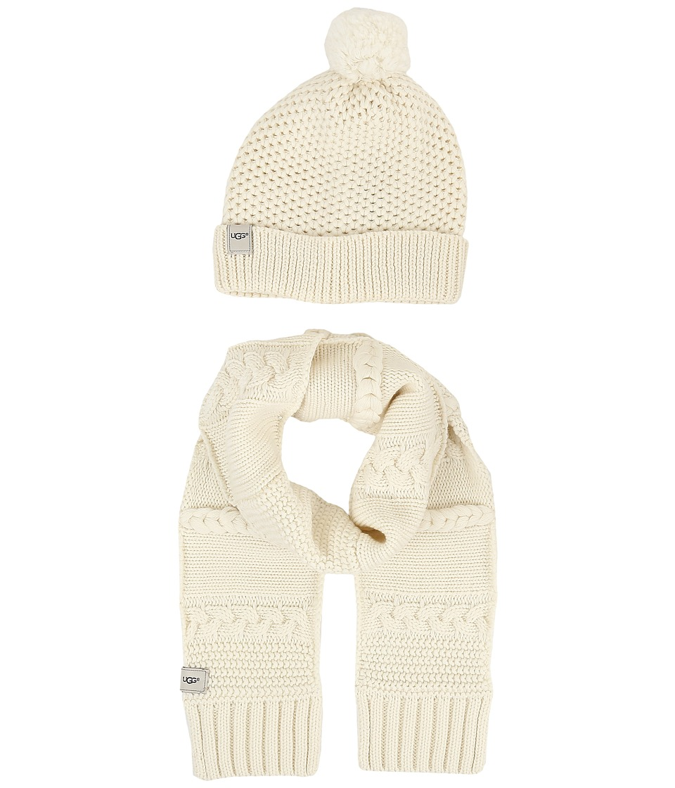 UGG Kids - Novelty Beanie and Scarf Boxed Set (Toddler/Little Kids) (Ivory) Beanies