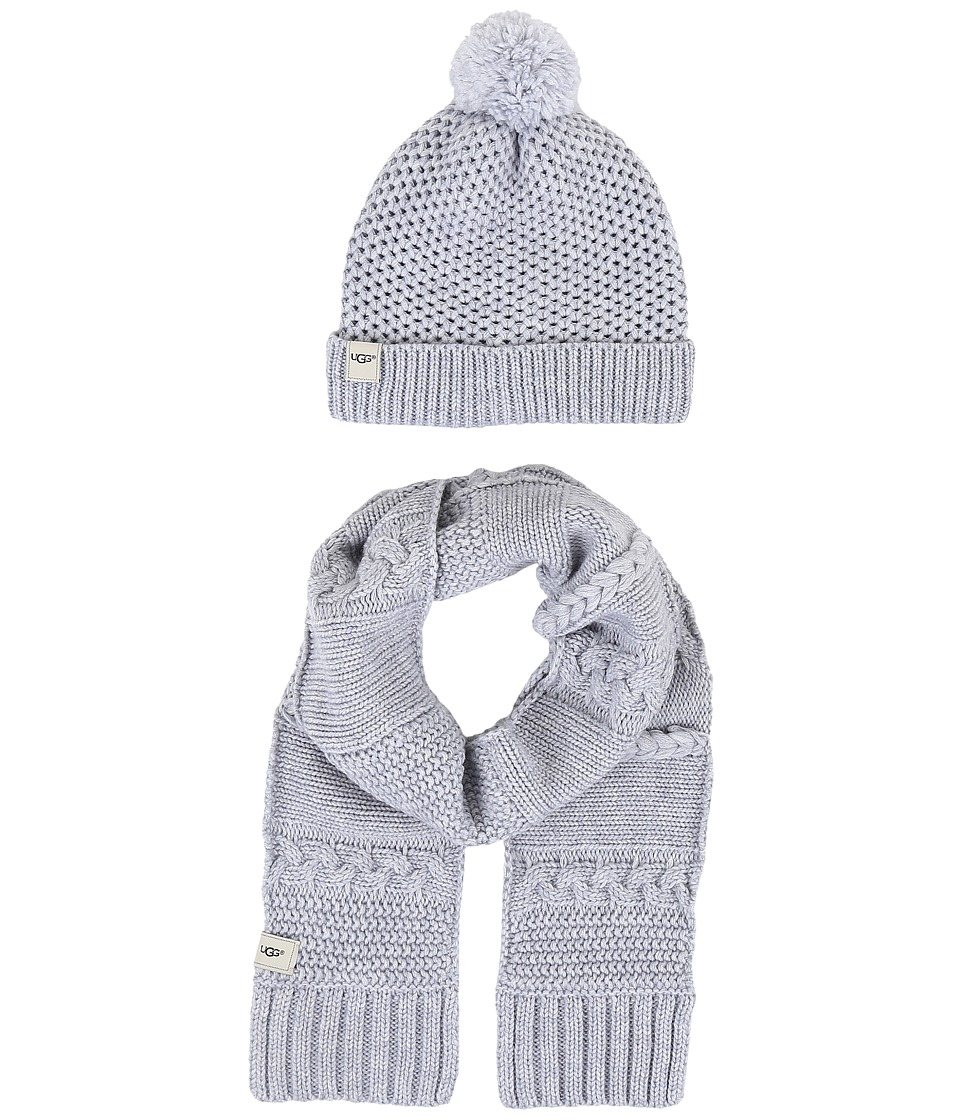 UGG Kids - Novelty Beanie and Scarf Boxed Set (Toddler/Little Kids) (Grey Heather) Beanies