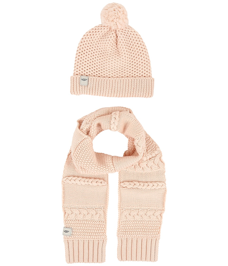 UGG Kids - Novelty Beanie and Scarf Boxed Set (Toddler/Little Kids) (Freshwater Pearl) Beanies