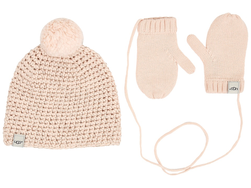 UGG Kids - Hat and Mitten Boxed Set (Toddler/Little Kids) (Freshwater Pearl) Beanies
