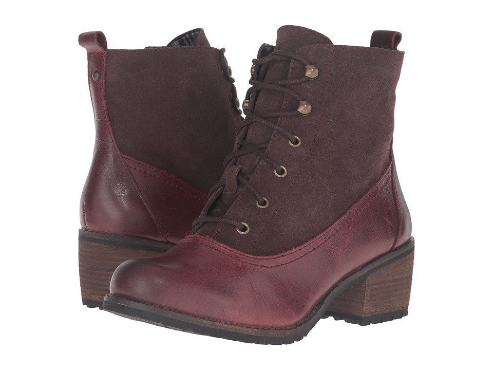 Aetrex - Essence Skyler (Merlot) Women's Lace-up Boots