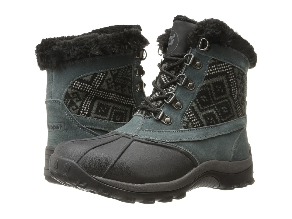 Propet Blizzard Mid Lace II (Black/Aztec Knit) Women